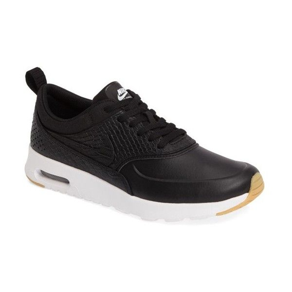 Women's Nike Air Max Thea Sneaker (€74) ❤ liked on Polyvore featuring shoes, sneakers, air sole shoes, lightweight shoes, shock absorbing shoes, nike trainers and nike