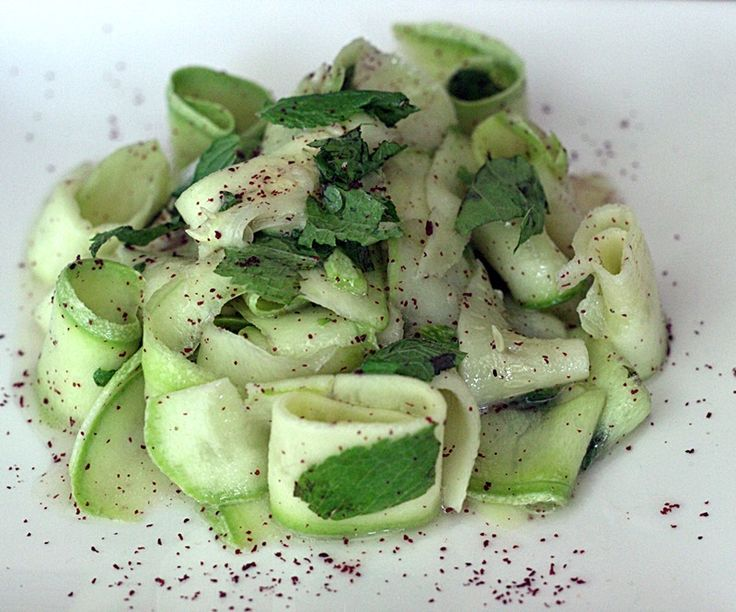 Zucchini with mint and sumac #zucchini #sumac #mint #salad