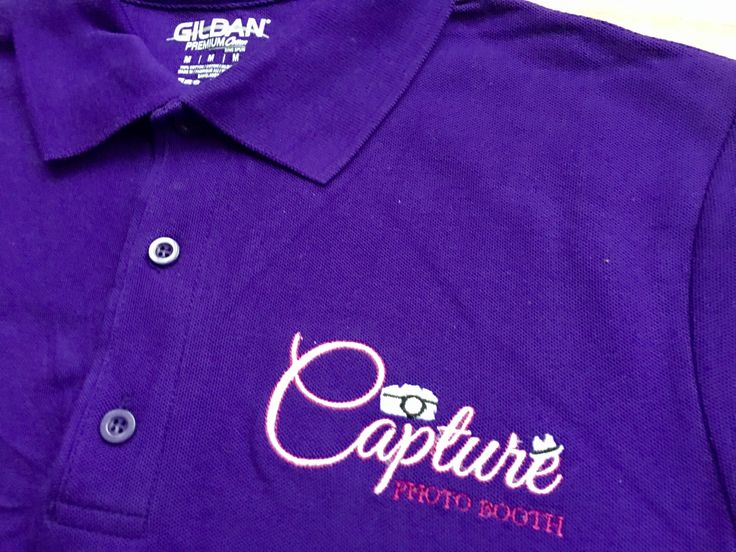 Couldn't quite get the exposure right on this photo... but I am sure that Capture Photo Booth would 😉  Embroidered branded workwear available for you and your biz.