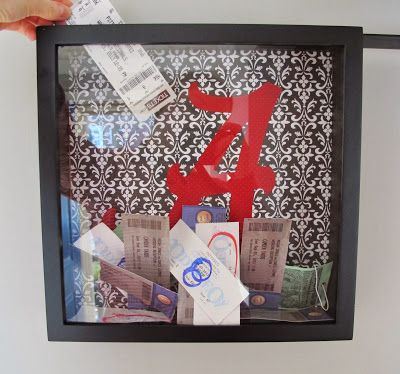 BonnieProjects: Gift Idea: Easy Ticket Stub Frame - Need to do this for my collection #Gift #Tickets #Memories