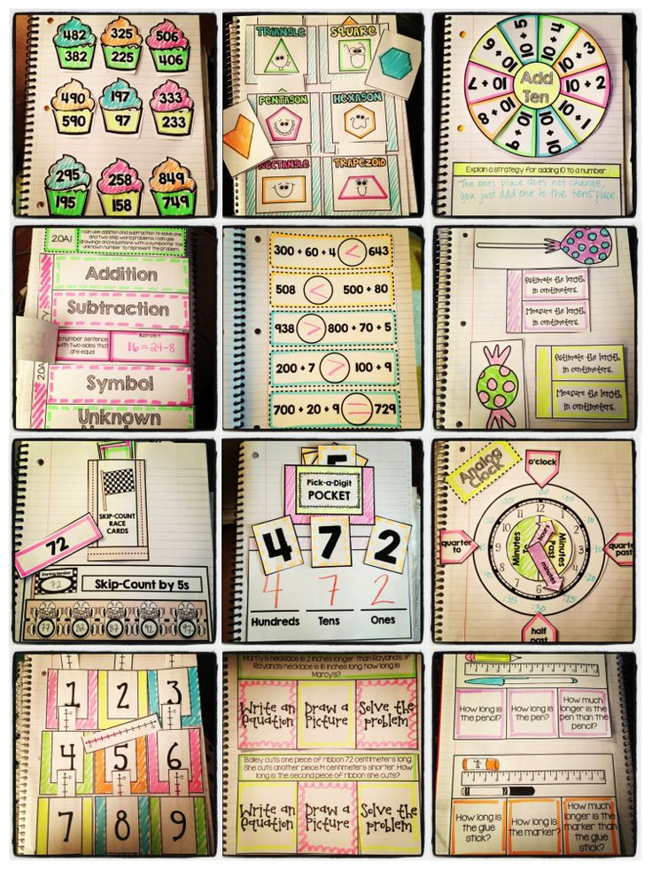 Interactive Notebooks for ALL 2nd Grade Common Core Standards!! Over 400 pages of flippable, foldable fun to get your kiddos excited about learning math! $