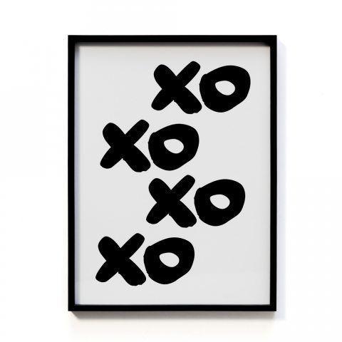 Adairs Kids Framed Wall Art XOXO
