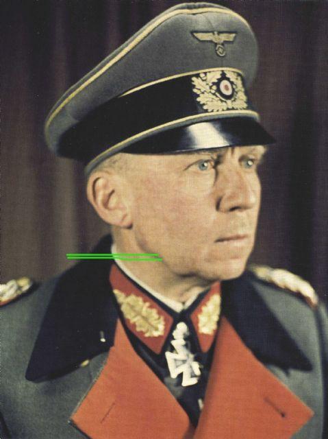 Generaloberst Gotthard Heinrici wearing greatcoat with red lapel. Eichenlaubträger, Heer Generaloberst, Ritterkreuzträger, Schwerternträger