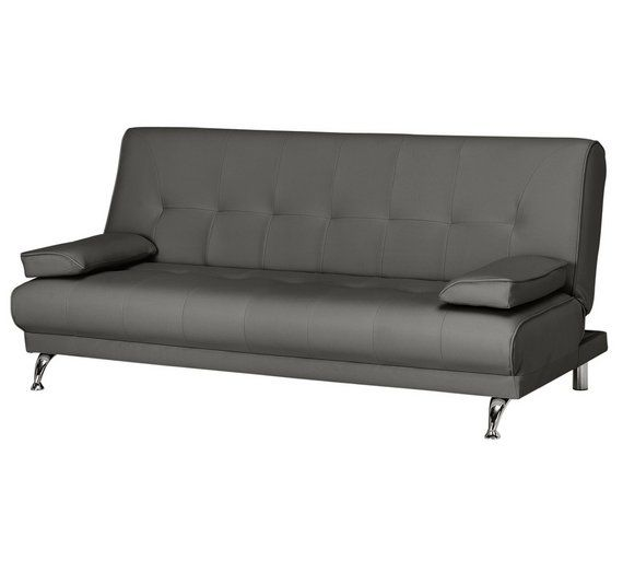 Buy HOME Sicily 2 Seater Fabric Clic Clac Sofa Bed - Charcoal at Argos.co - Best 25+ Futon Living Rooms Ideas On Pinterest Daybed, Ikea