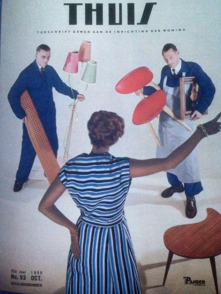 Thuis tijdschrift gewijd aan de inrichting der woning 1955