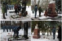 Военнослужащие и сотрудники курской Росгвардии почтили память Героев России и Советского Союза