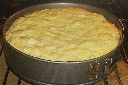 Apfelrahmkuchen mit Mandeln 1