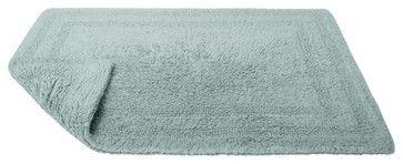 Reversible Cotton Rug, Aqua, Extra Large contemporary-bath-mats