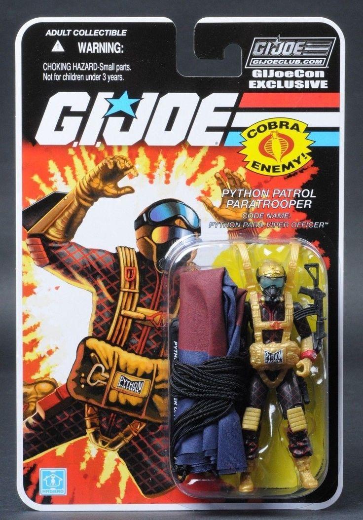 GI Joe 2018 Joe con JoeCon Carded Python Patrol Para Viper