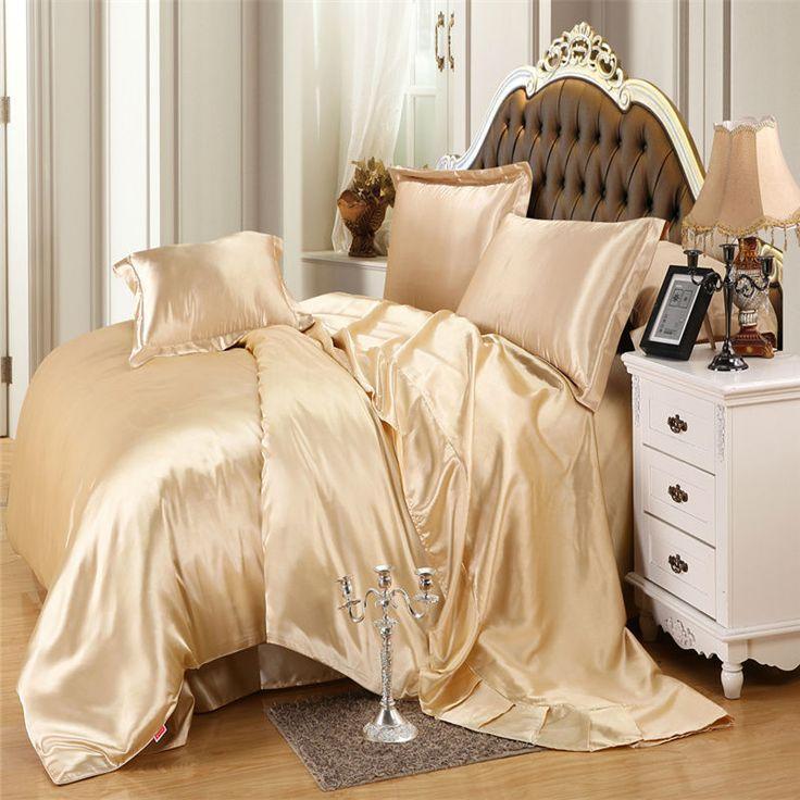 Venda QUENTE! cor real de 100% seda pura impressão reativa conjuntos de cama Queen size Duplo Linenes 2016 novo dsign Quilt cover set em Conjuntos de cama de Home & Garden no AliExpress.com | Alibaba Group