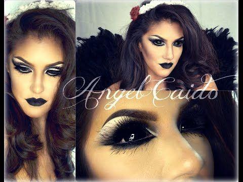 ANGEL CAIDO ( Halloween Tutorial ) KiKiMakeup inspired - YouTube
