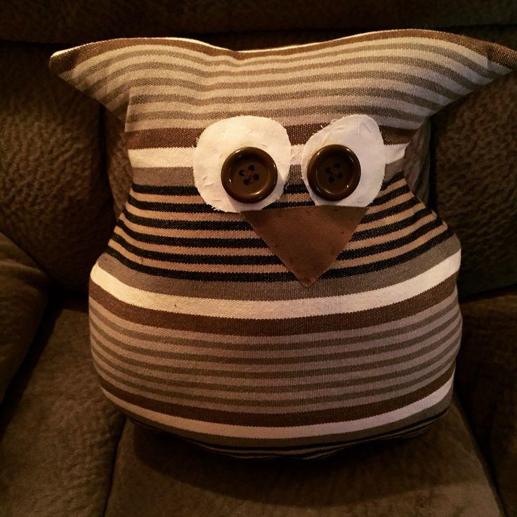 Owl pillow DIY   Diy pillows, Owl pillow, Pillows