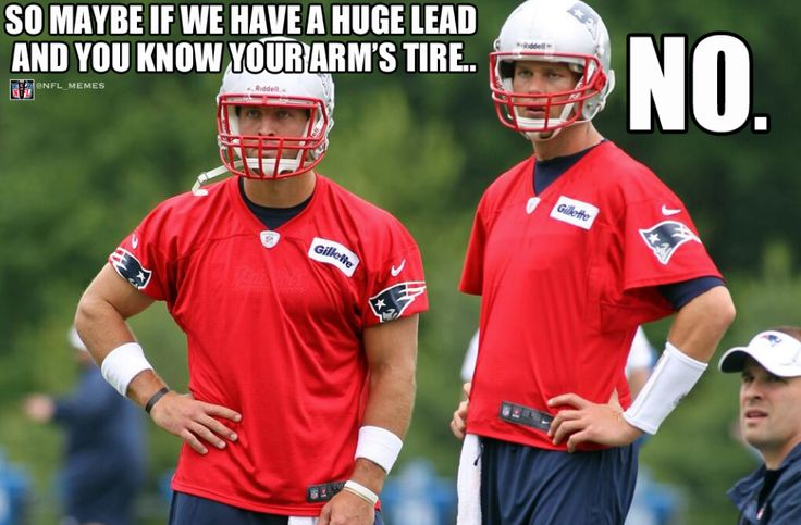 Tim Tebow, Tom Brady. In Love with this picture, just ignoring the words on top.