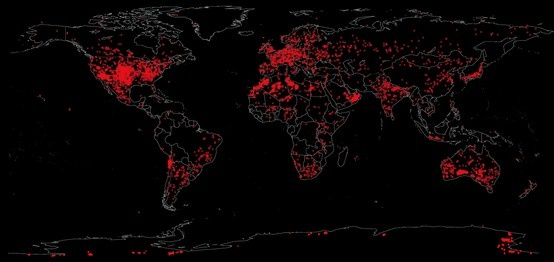 All meteorites ever found mapped for Quest