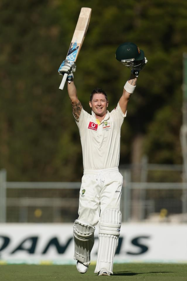+One of the best batsman in the world currently - Australian Cricket Captain - Michael Clarke.