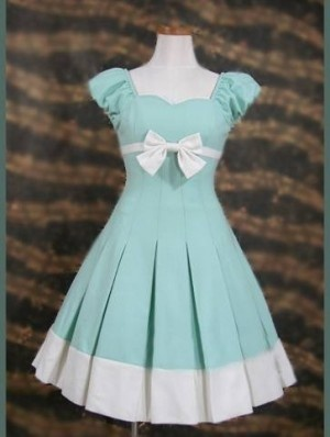 Mary Style Bow Sweet Lolita Dress