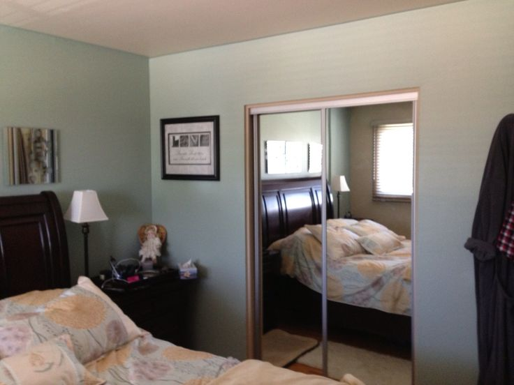 Added An Extra Feature Wall In The Bedroom Love This Color Zen By Behr Paint My Projects