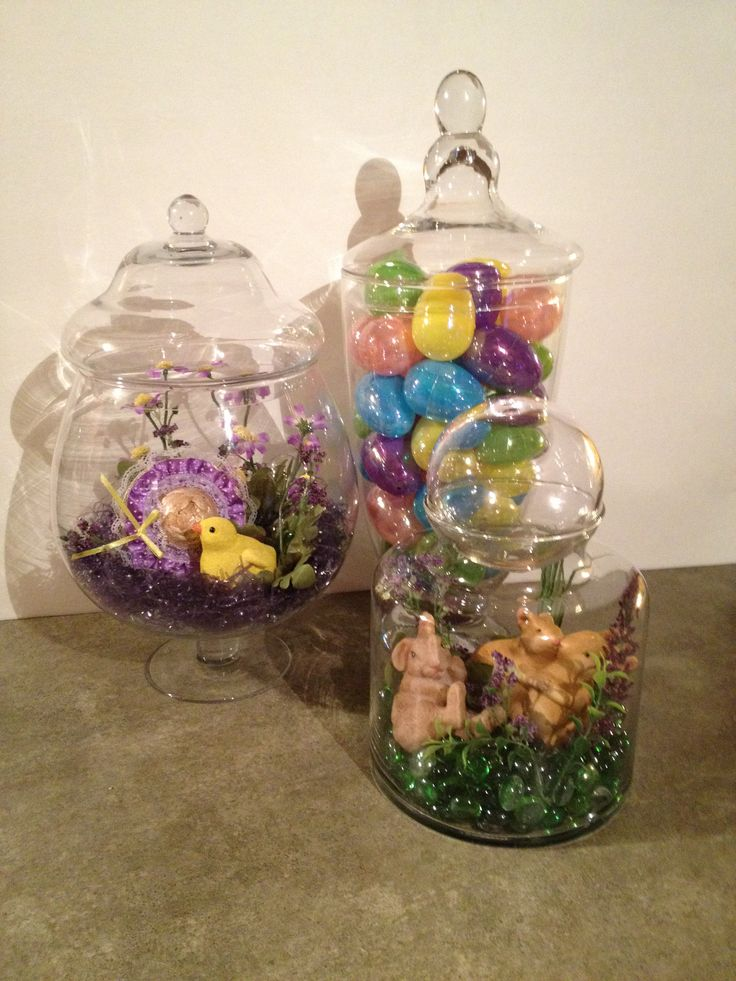 Easter Spring Apothecary Jar Trio Apothecary Jars
