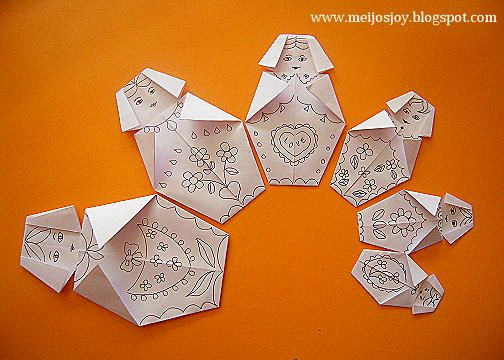 87 best images about pliage decoupage on pinterest - Origami facile grenouille ...