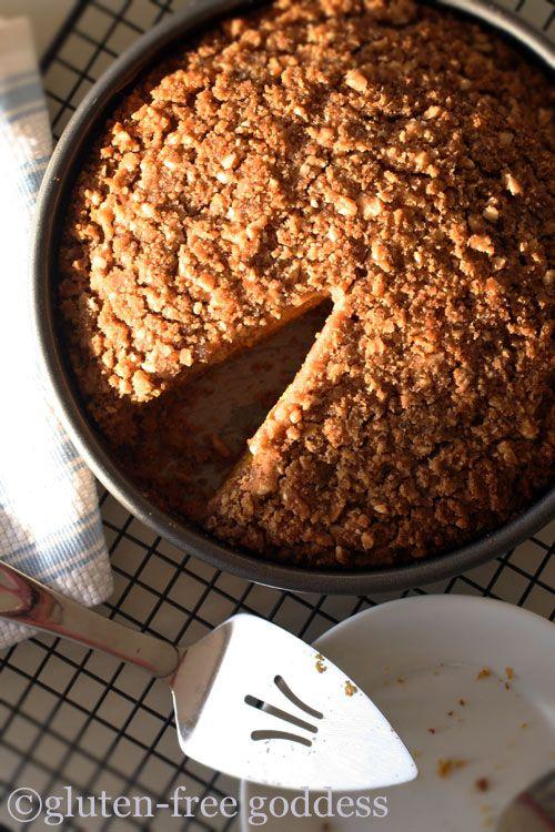 Gluten free, dairy free pumpkin crumb cake