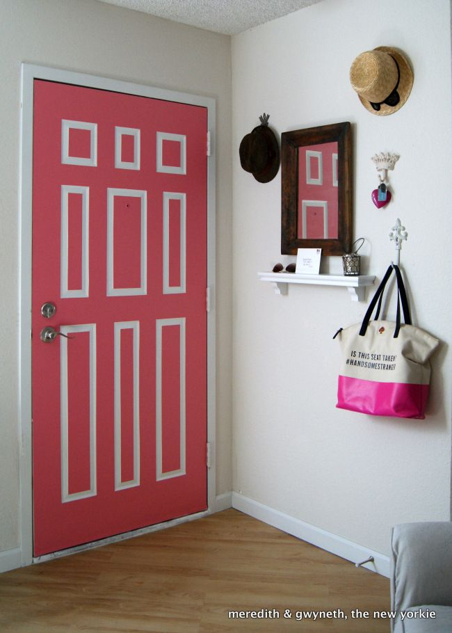 Paint Front Door Interior And Paint White Around Panels