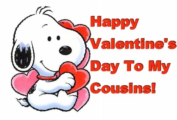 funny Happy Valentine's Day cousin | Cousins Day Quote Card and Images