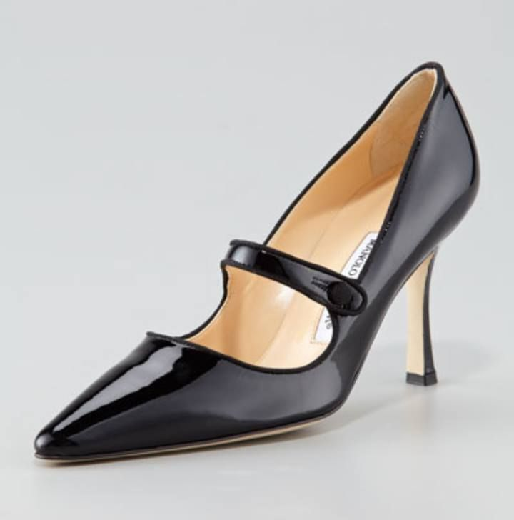 Manolo Blahnik Campari Patent Leather Mary Jane - Neiman Marcus - another  shoe that SATC famous!