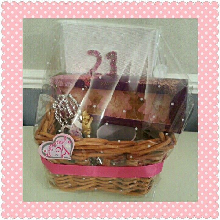 21st Birthday Hamper, made to order. Visit www.bespokebabyhampers.co.uk  #21stbirthday #birthday #21 #hamper #giftideas