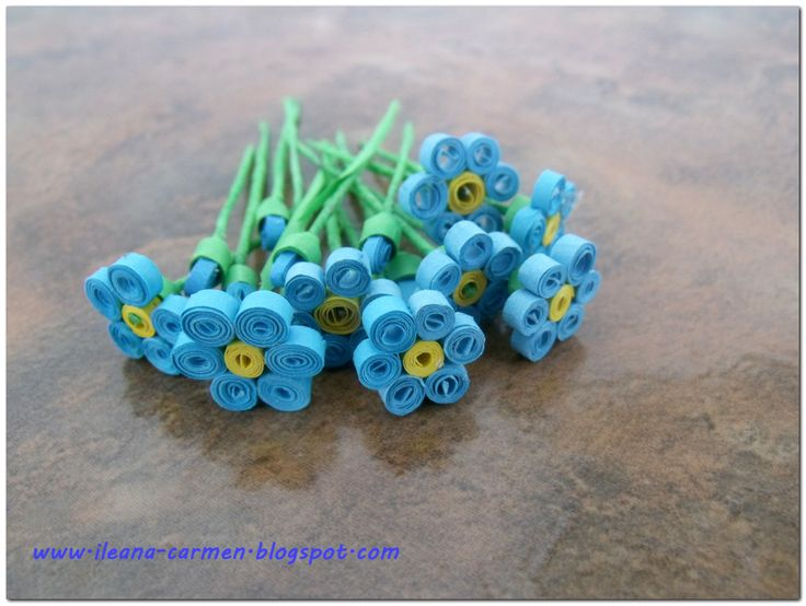 3D Quilling Forget Me Not
