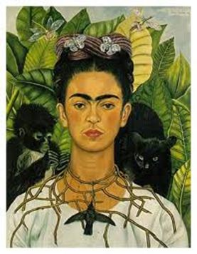 One of Frida's most famous paintings of herself.
