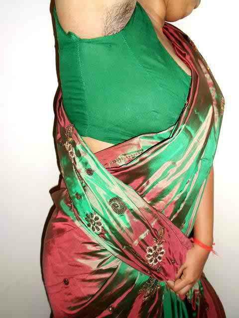 Indian bhabhi in sari armpit tease - 2 7