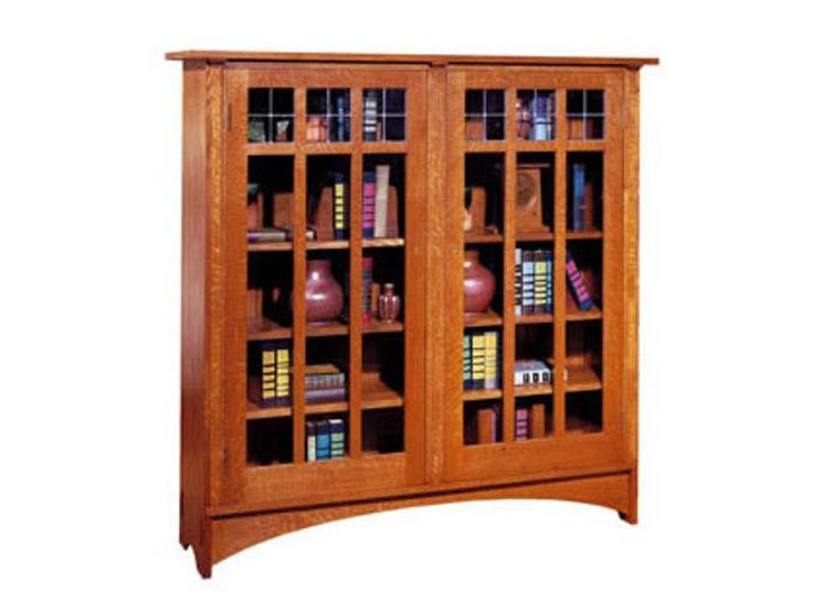 19 best stickley in your home images on pinterest for Craftsman style bookcase plans
