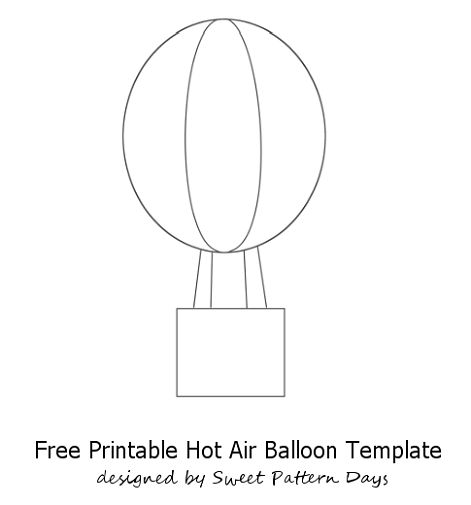 hot air balloon craft template