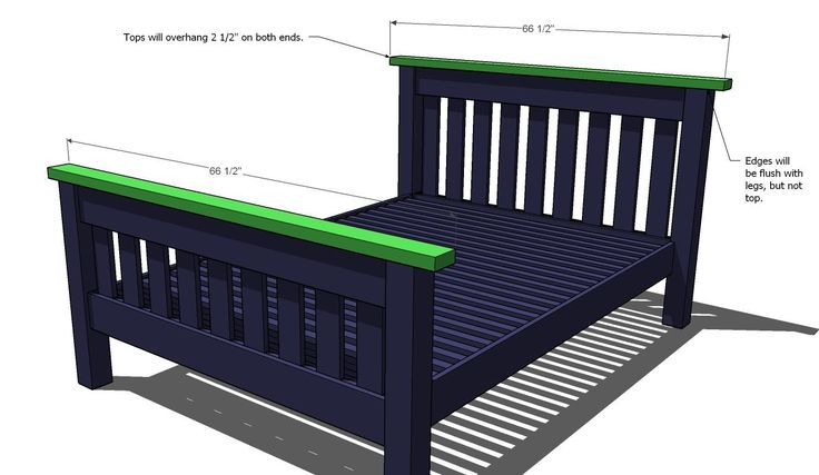 Ana White | Build a Simple Bed, Full Size | Free and Easy DIY Project and Furniture Plans