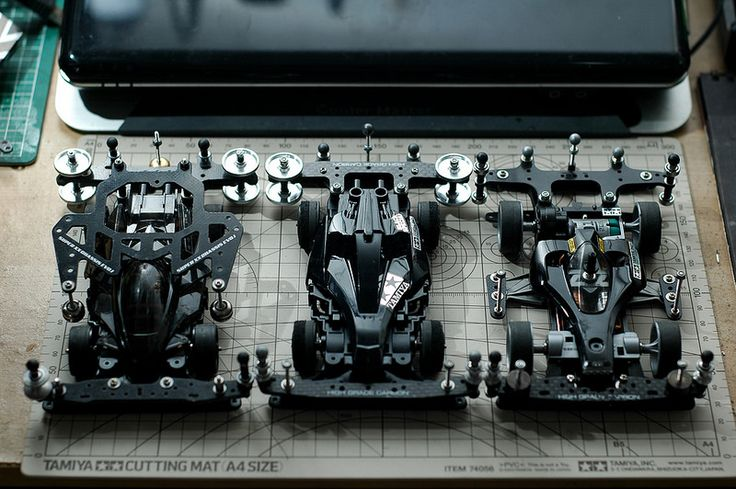 Three blind mice.  #Tamiya #mini4WD