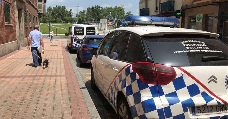 Uno de los coches patrulla de la policía local no consigue pasar la inspección técnica de vehículos