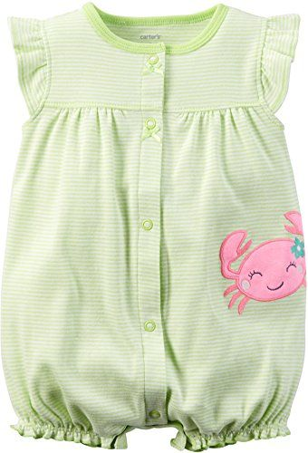 Baby Girl Clothes Carter's Baby Girls' Cotton 1-piece Snap-Up Romper (18 Months, Yellow Crab) Check more at https://www.newbornbabystuff.com/baby-girl-clothes-carters-baby-girls-cotton-1-piece-snap-up-romper-18-months-yellow-crab/