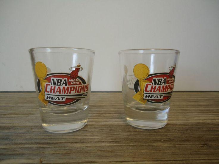Miami Heat 2012 NBA Champions Champs 2 Shot Glasses NEW. | eBay!