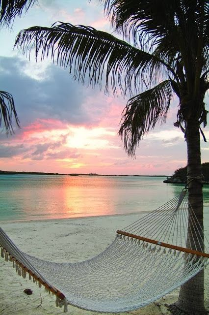 Sunset over The Bahamas; in light of the recent cold snap, this looks like complete paradise to me.