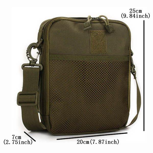Men Women, Nylon Sport Outdoor, Tactical Army Ipad, Shoulder Crossbody Bag