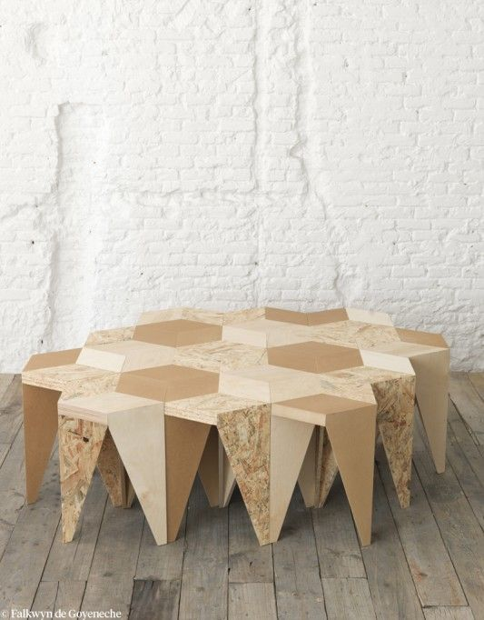 Effet puzzle designer espagnol alvaro catal n de oc n espace mobilier de salon mobilier et - Maison modulaire espagnole ...