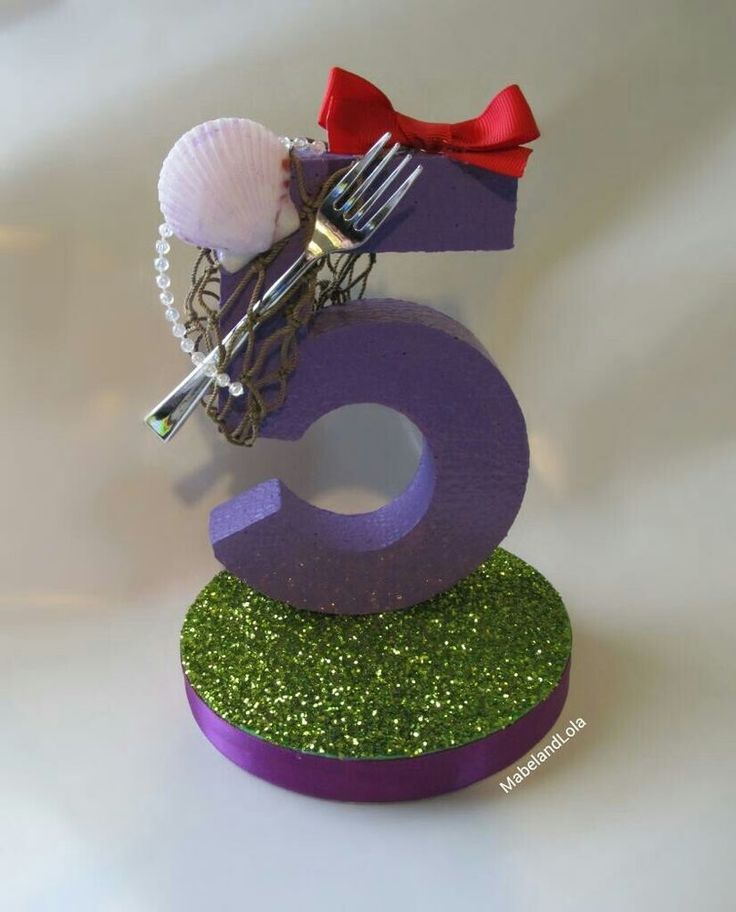 $9.00 ebay Little Mermaid Theme Birthday Party Centerpiece Table Number Decoration ANY AGE