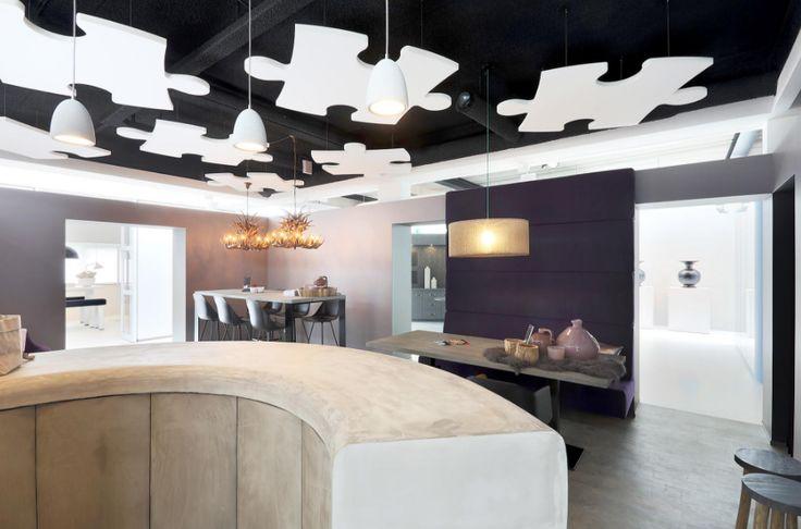 Met akoestische plafondeilanden kunt u uw akoestiek verbeteren. #Intermontage #IBPInterieurbouw