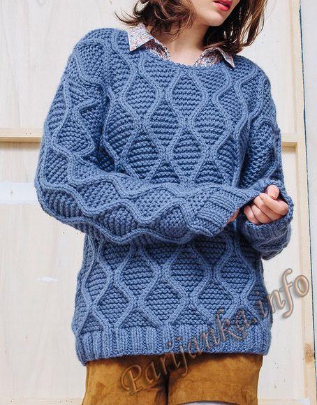 Пуловер (ж) 16*135 Phildar №4776