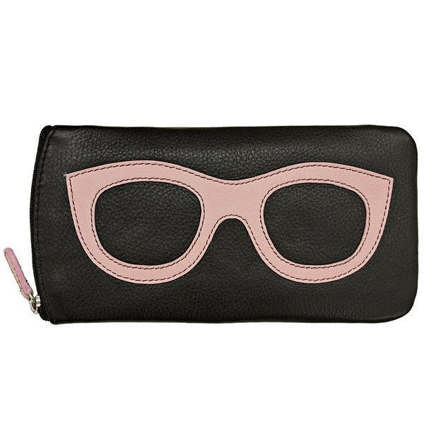 DIMENSION/SIZE:,7.5 x 3.75 x .5 inchesMATERIAL USED: Genuine LeatherDESCRIPTION: Eyeglass case with side zipper and back zip pocket.