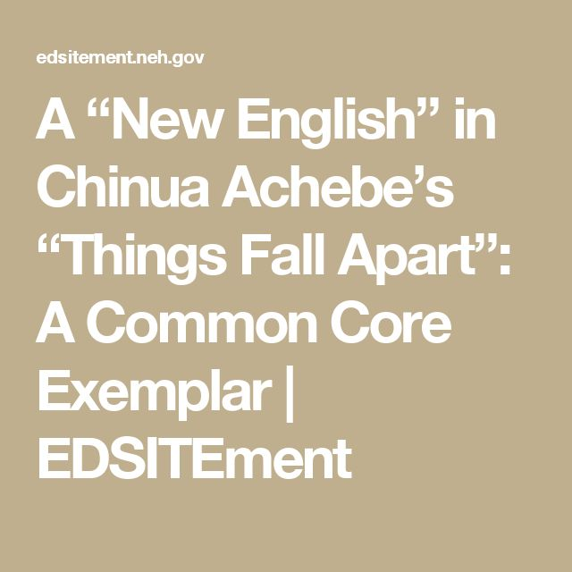 things fall apart and distinctive world View essay - thing fall apart - paper from hist 112 at malone university world history 4/8/2013 africa things fall apart by chinua achebe is a book that brings you into to the life and customs of.
