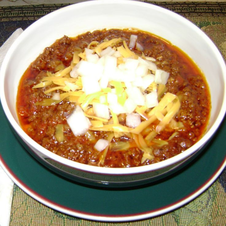 My Texas Chili Recipe | Just A Pinch Recipes. Love this one & make it often during winters in Wisconsin! I do not use bacon drippings or garlic in this. Renee.