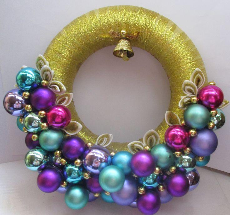 #handmade #wreath #christmas #kanzashi