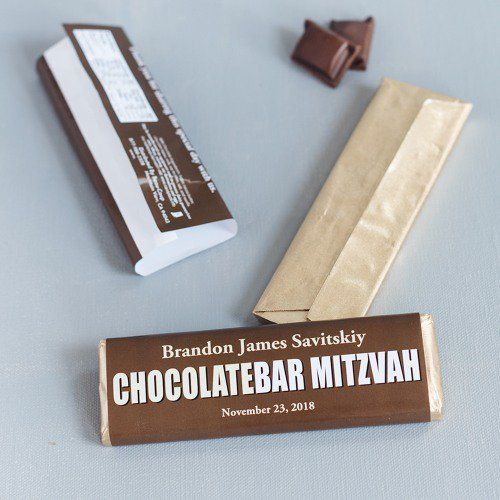 Personalized Bar/Bat Mitzvah Chocolate Bars by Beau-coup