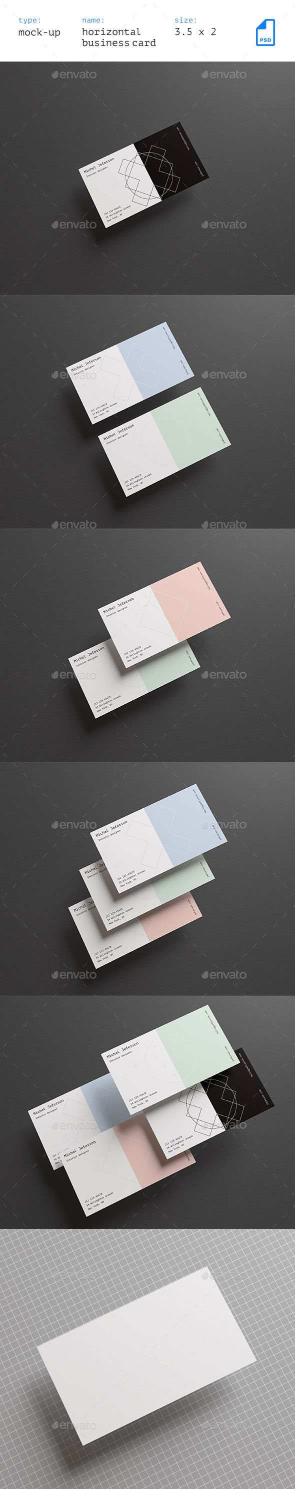 718 best business card mockup images on pinterest miniatures horizontal business cards mock up vol 2 reheart Gallery